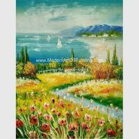 Buy cheap Framed Palette Knife Oil Paintings , Seascape Oil Paintings For Modern Decoration from wholesalers