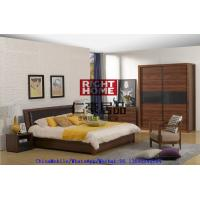 Buy cheap 2016 New Nordic Design Furniture by Leather Upholstered lift storage bed with Sliding door Wardrobe and Drawer Chest from wholesalers
