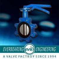Buy cheap Cast Iron Lug Type Wafer Butterfly Valve , 4 standard Double Flanged Butterfly Valve from wholesalers