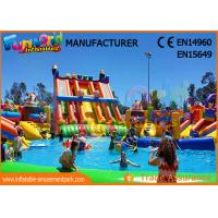 Buy cheap Water Inflatable Game Water Park Inflatable Water Park Slide With Pool from wholesalers