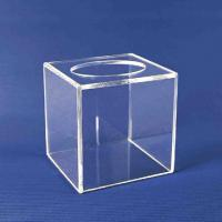 Buy cheap Promotional Clear Acrylic Tissue Box For Home / Hotel  20cm * 20cm * 20cm product