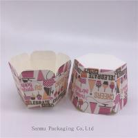 Buy cheap Personalized Printed Cupcake Wrappers, Greaseproof Square Cupcake Baking Cups Bakery Set product