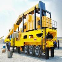 Buy cheap Rubber - Tyred Mobile Crushing Plant / Vertical Shaft Impact Crusher Trailer Frame from wholesalers
