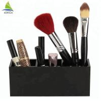 Buy cheap Multi - Functional Acrylic Cosmetic Display Black Acrylic Makeup Brush Organized Holder Stand product