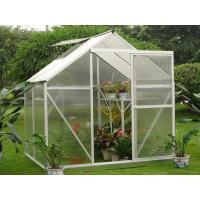 Buy cheap Slide Doors 4mm UV Twin-wall Polycarbonate Portable Garden Greenhouse Kits 6' X 4' from wholesalers