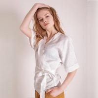 Buy cheap Fashionable Women Linen Blouse from wholesalers