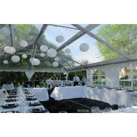 Buy cheap Beautiful Transparent Fabric clear top tent rental , outdoor party tents Decorated with Lantern from wholesalers