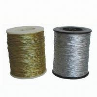 Buy cheap 2mm Metallic Elastic Cords for Tag, Available in Different Sizes, Colors and Designs from wholesalers