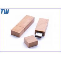 Buy cheap Slim Wooden Bamboo Brick 64GB Pendrive Stick Drive Natural Product from wholesalers