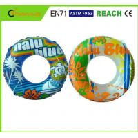 Buy cheap Machine Print Swimming Float Inflatable Pool Rings For Adults 0.25mm Thickness from wholesalers