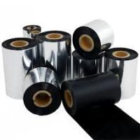 Buy cheap 110mmx450m black resin barcode ribbon , thermal transfer ribbon for Zebra ,TSC barcode and label printer from wholesalers