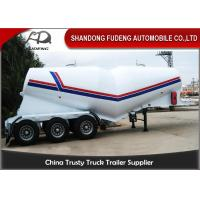 Buy cheap 55cbm 3 Axle Dry Bulk Cement Truck Powder Transport Tanker Semi Trailer for Uganda from wholesalers