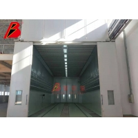 Buy cheap aircraft PU wall 10 micron Industrial Spray Booth with working lift from wholesalers