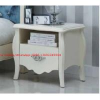 Buy cheap Ivory Classic Bed side table with wooden drawers for Nightstand design used by from wholesalers