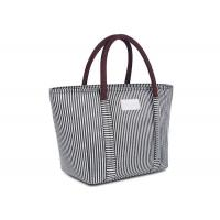 Buy cheap Oxford Cloth Custom Insulated Tote Bags 100% Waterproof Stylish Striped Design from wholesalers