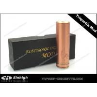 Buy cheap Triquetra Mod Mechanical Mod E Cig 26650 Tube Mod Full Copper Brass 30 / 22mm Mod from wholesalers