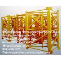 Buy cheap Q345B Steel F0/23B Tower Crane Mast Section , Tower Crane Sections from wholesalers
