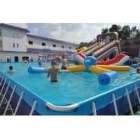 Buy cheap Rectangle Metal Frame Paddling Pool 0.9mm PVC Tarpaulin For Water Park from wholesalers