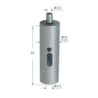 Buy cheap Cylinder Exit Wire Gripper Silver Plated 15*53mm for suspension kit YW86092 from wholesalers
