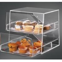 Buy cheap Cast Acrylic Bakery Display Case Rack Showcase With 2 Sliding Trays product