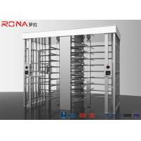 Buy cheap Revolving Full Height Turnstile Gate Double Lane 50dB Noise For Crowd Control product