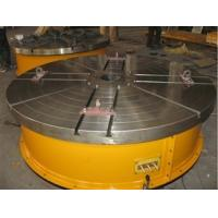 Buy cheap Flange Plate Floor Turning Table Stepless Frequency Adjustment Welding Rotary Table With Round Table Standing 15 Tons from wholesalers