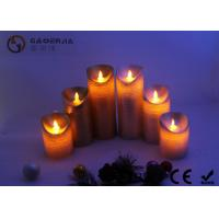 Buy cheap Warm White Moving Flame Battery Candles , Flameless Outdoor Candles With Remote from wholesalers