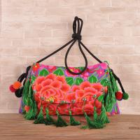 Buy cheap Hot sale woman ethnic handbag embroidery messenger bag with tassel from wholesalers