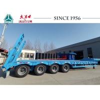 Buy cheap 4 Axle 60T Low Bed Semi Trailer For Transporting Excavators from wholesalers