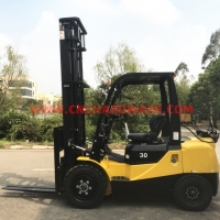 Buy cheap Pneumatic Lifting 7m 125mm Fork Width 3t LPG CNG Forklift from wholesalers