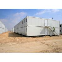 Buy cheap Steel Door Storage Container Houses Two Stories Glass Wool Sandwich Wall Panel from wholesalers