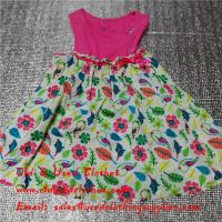 Buy cheap Summer Cotton Baby Flower Used Girls Dresses Second Hand Childrens Clothing from wholesalers
