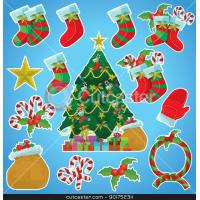 Buy cheap Merry christmas best promotional golw in the dark creative sticker from wholesalers