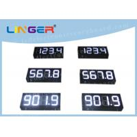 Buy cheap IP65 Waterproof Digital Gas Price Signs Customized Design Installation from wholesalers