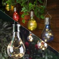 Buy cheap Home Garden Solar Light Bulb Waterproof Solar Rotatable Outdoor Garden Camping Hanging LED Light Lamp Bulb Lights from wholesalers