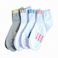 Buy cheap Custom logo, deisgn various color cotton socks from wholesalers