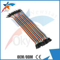 Buy cheap 1 Pin-1 Pin Female To Male Jumper Wires For Arduino , 40pcs In Row Dupont Cable 20cm from wholesalers