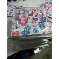 China Foam Rubber Flip Flops White Soles With Flowers Leaves Pattern , Cut Out Plastic Strap Slippers Soles on sale