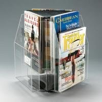 Buy cheap Clear Plexiglass Magazine A5 Literature Acrylic Display Holders Rotating product