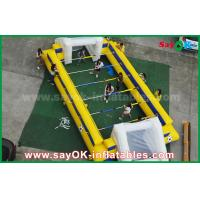 Buy cheap Yellow Inflatable Sports Games Inflatable Football Field / Soccer Pitch With Goal from wholesalers