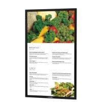 Buy cheap Custom 49inch anti-glare protective front glass for LED outdoor digital display heat tempered with black silk printed from wholesalers