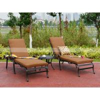 Buy cheap BML16702 alumicast sun lounge with side table with 8cm cushion stackable lounger from wholesalers