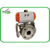 Buy cheap Light Weight Sanitary Ball Valves Aluminum Pneumatic Actuator , Flanged Connection End from wholesalers