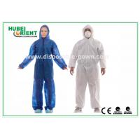 Buy cheap Hooded Disposable Protective Coverall With Elastic Wrist / Ankle / Waist from wholesalers
