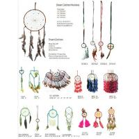 China Dreamcatcher Gift checking Dream Catcher Net With natural stones Feathers Wall Hanging Decoration Ornament on sale