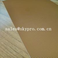 Buy cheap Abrasion Resistant Natural Crepe Shoe Sole Rubber Sheet Corrugated Pattern from wholesalers