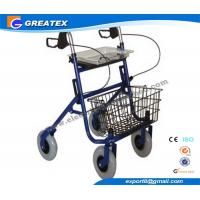 Buy cheap Economy Durable Steel Folding Rollator Walker with Four Wheel For Handicapped from wholesalers