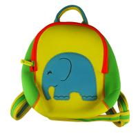 Buy cheap Zippered Cute yellow neoprene children backpack camping bag with elephant embroidery from wholesalers