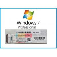 Buy cheap Microsoft Windows 7 Product Key Code Win7 Professional Genuine OEM License Activation Online from wholesalers