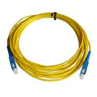 Buy cheap SC/UPC Fiber optic patch cord Singlemode Simplex  2.0mm Yellow  OFNP cable product